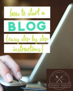Have you been wanting to start a blog but don't know how? I've created this easy step-by-step guide to help you start a blog!