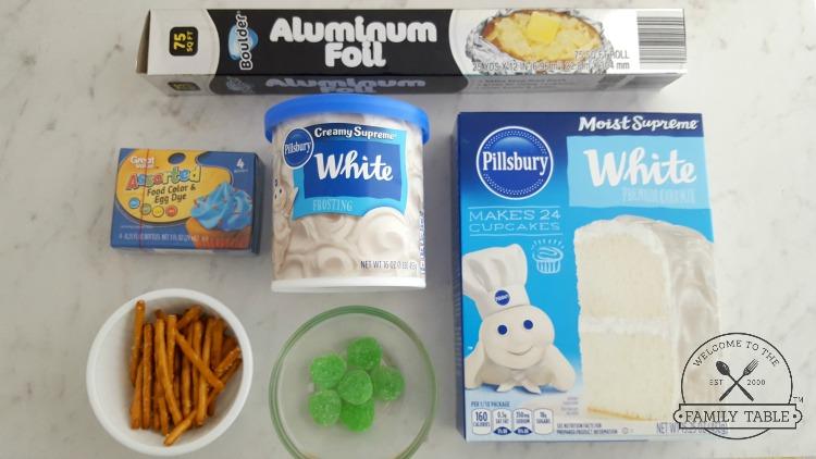 Apple Shaped Cupcake Ingredients