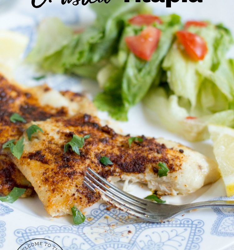 Lemon Parmesan Crusted Tilapia