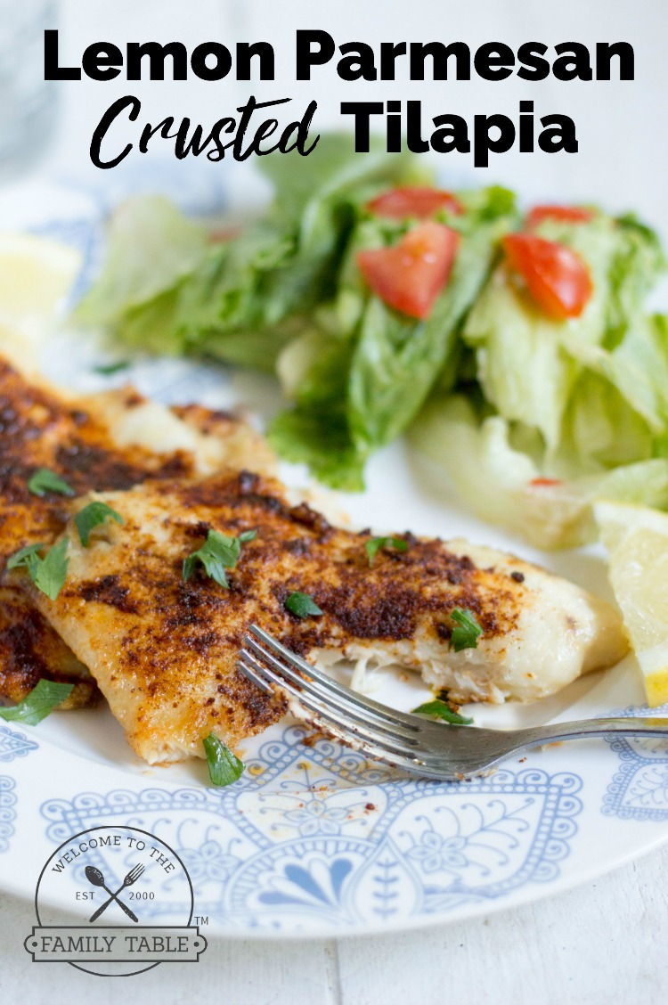Lemon parmesan crusted tilapia welcome to the family table looking for a delicious and easy way to prepare your tilapia if so come forumfinder Image collections