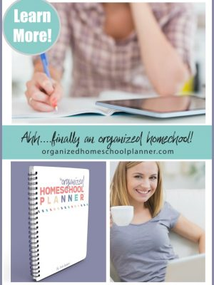 Looking to get your homeschool organized? The Organized Homeschool Planner™ can help you get there!