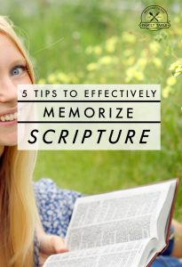 Are you looking to hide more of God's Word in your heart? These 5 tips can help you effectively memorize Scripture!