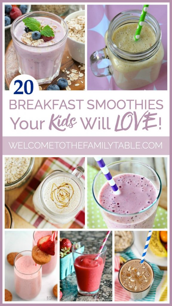 Looking for some delicious and easy breakfast smoothies for kids? Here are 20 yummy and great ideas!