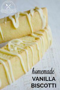Homemade Vanilla Biscotti