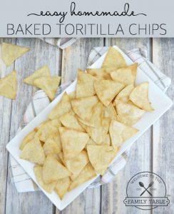 Easy Homemade Baked Tortilla Chip Recipe