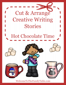 Cut and Arrange Creative Writing Stories for Kids - Hot Chocolate Time