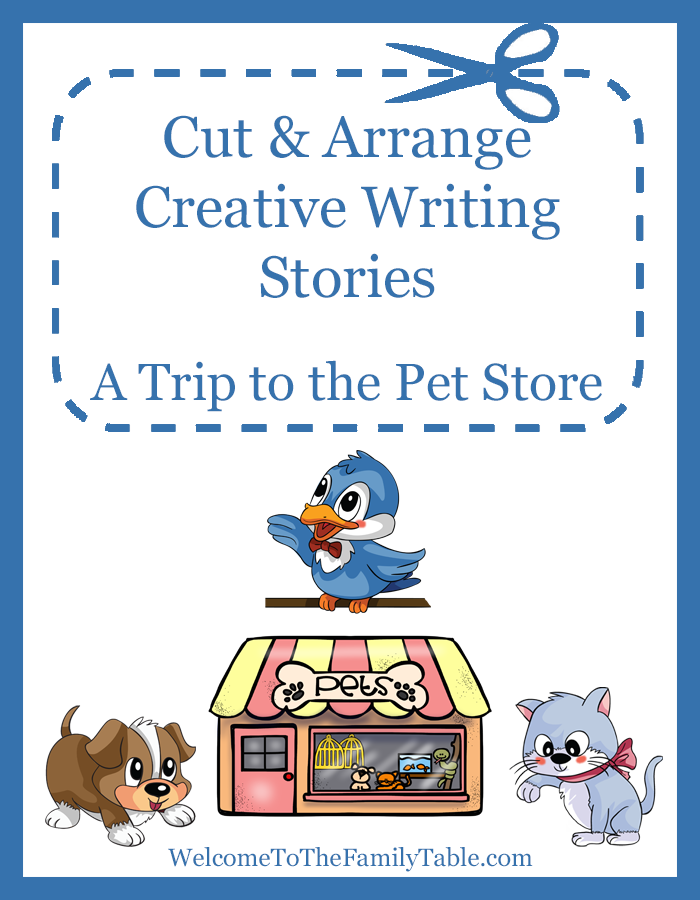 Cut and Arrange Creative Writing Stories for Kids – A Trip to the Pet Store