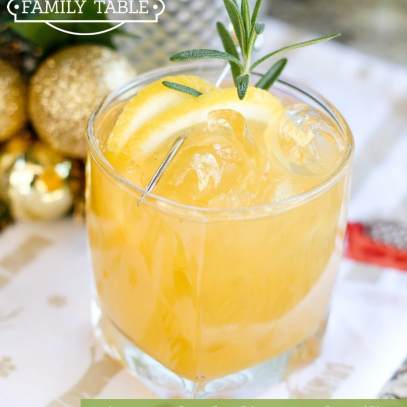 Papaya Limoncello Mocktail with Rosemary