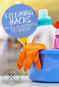 Moms: Do you dread cleaning? Or could you use some tips to get it done more quickly? If so, here are 5 cleaning hacks every mom needs to know.
