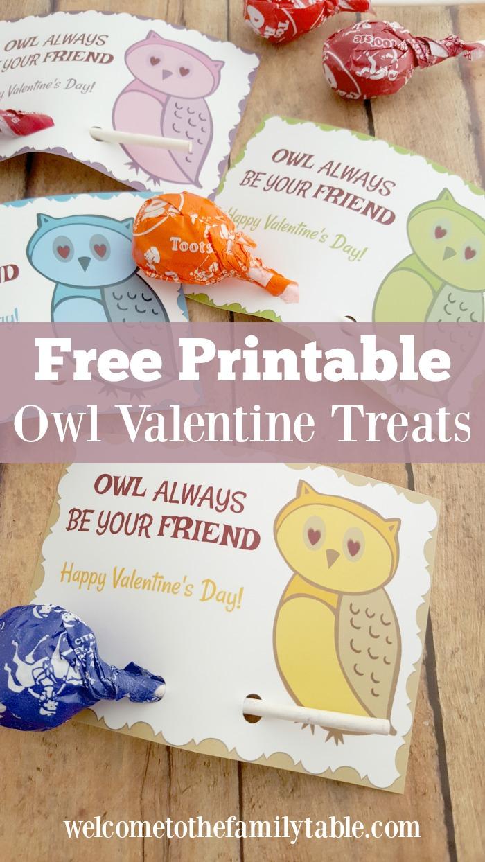 Owl Valentine Printable Pinnable Image