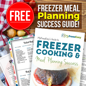 Looking for some help with freezer cooking? Come grab the FREE MyFreezEasy Success Guide!