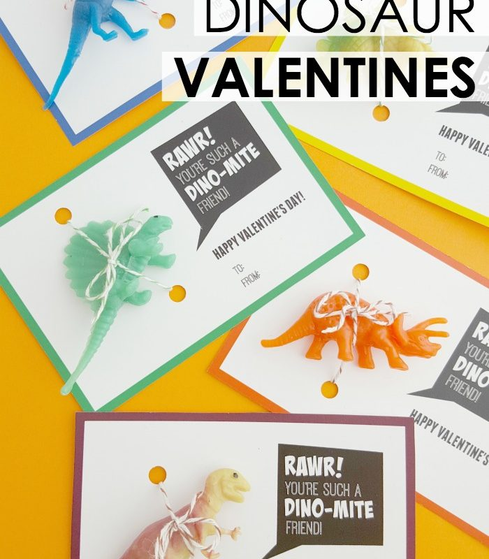Do you have dinosaur lover in your family? If so, come grab these free printable dinosaur Valentine cards! These fun, DIY Valentines are perfect for school, family, and friends!
