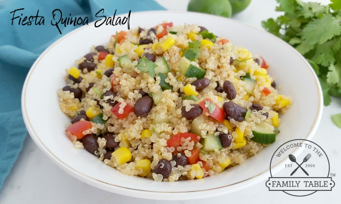 Looking for a fresh and delicious and healthy dish? Try this fiesta quinoa salad.