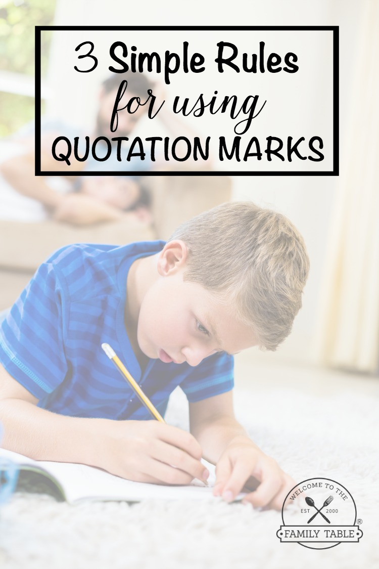 Does your child struggle to grasp the concept of quotation marks? Or perhaps you need more confidence to teach them? If so these 3 simple rules for using quotation marks will help!