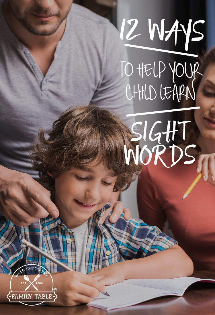 Looking for some creative ways to teach sight words to your child? Looking for some creative ways to teach sight words to your child? Come see these 12 fun ways to help your child learn sight words!