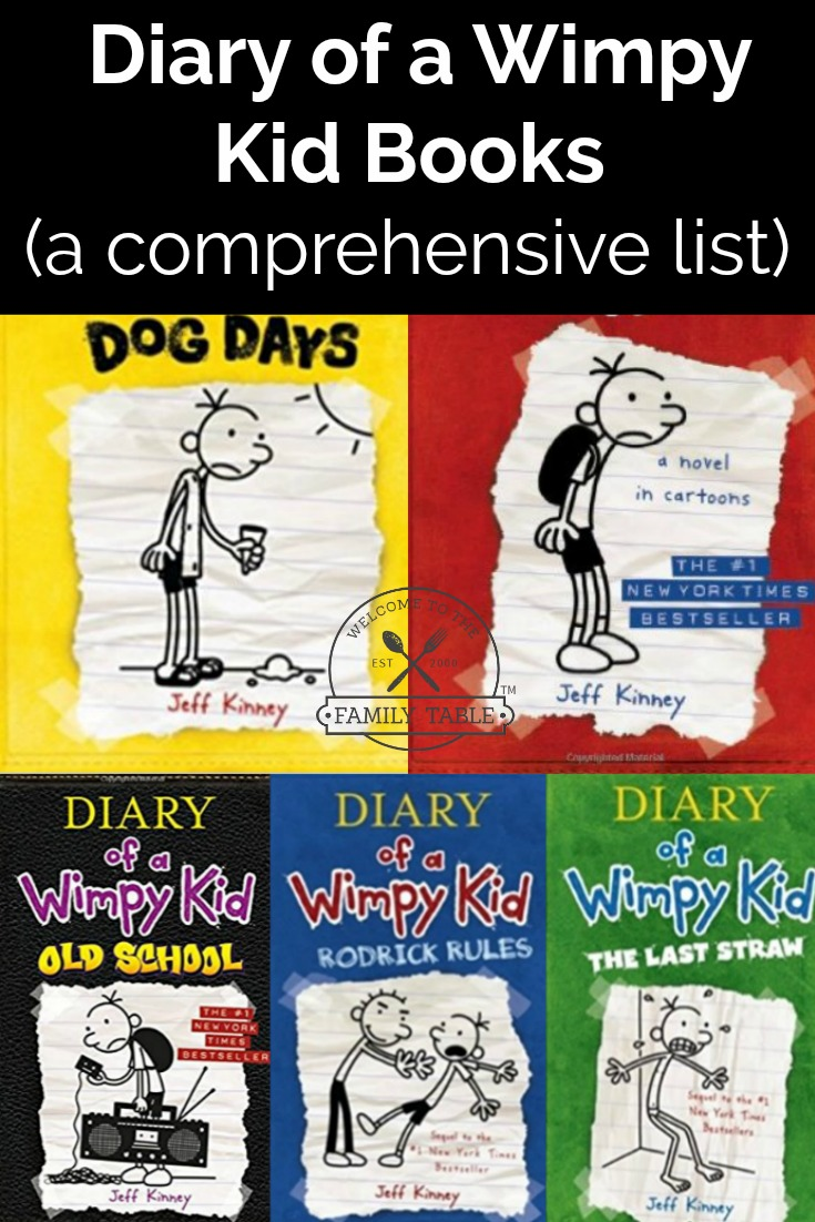 A Diary of a Wimpy Kid Books