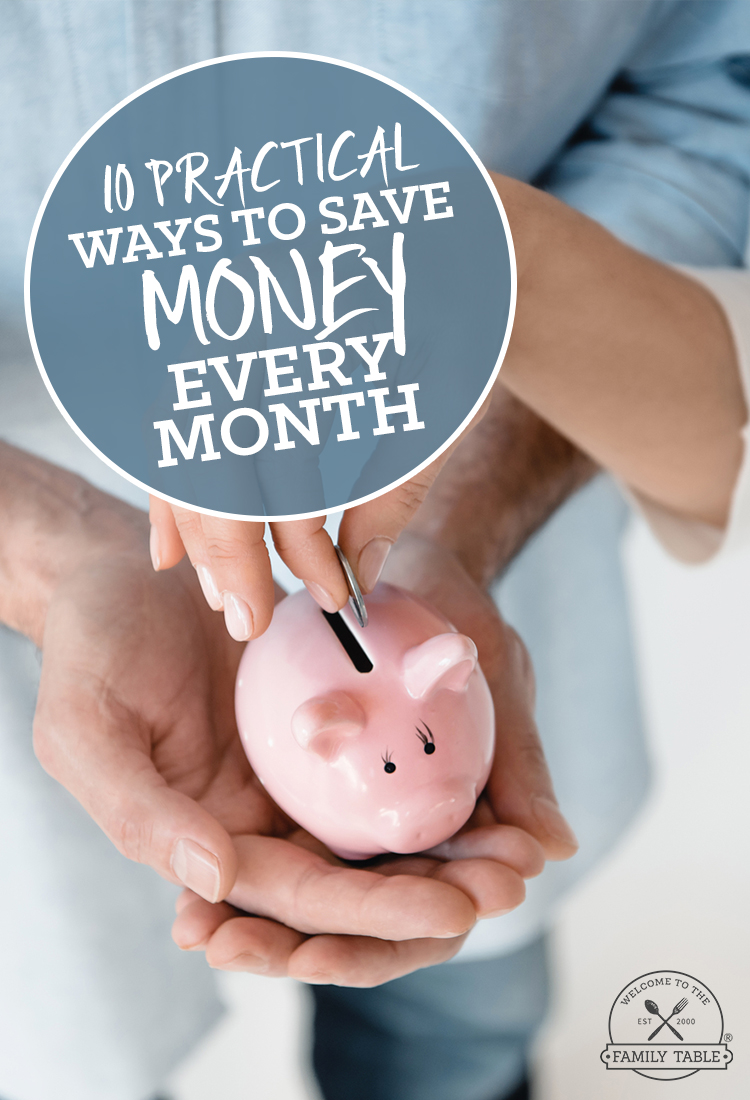 Just a few small changes to your current habits can have you meeting your savings goals. Here are 10 practical ways to save money every month.