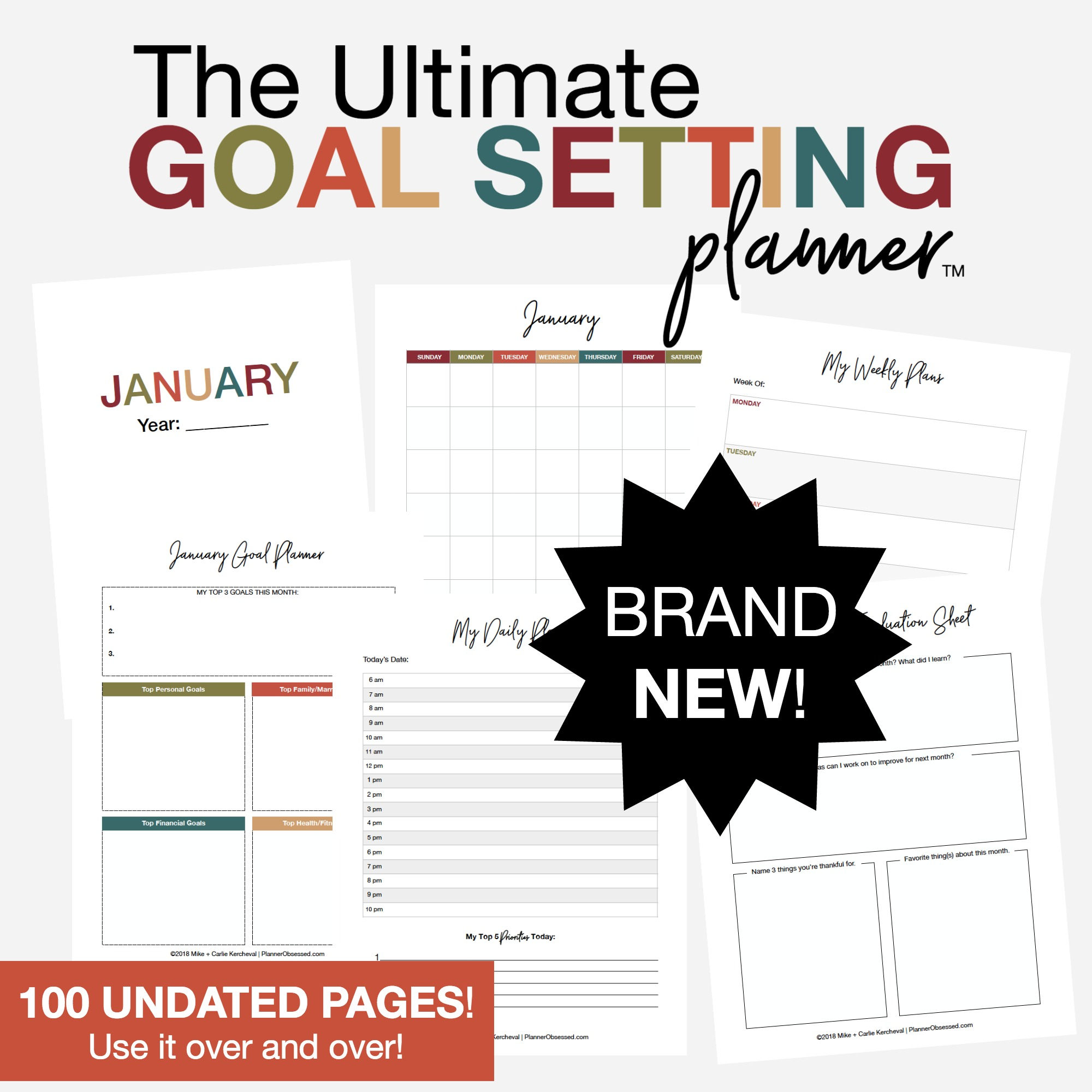 Looking to accomplish more this year? Come grab your copy of the The Ultimate Goal Setting Planner™!