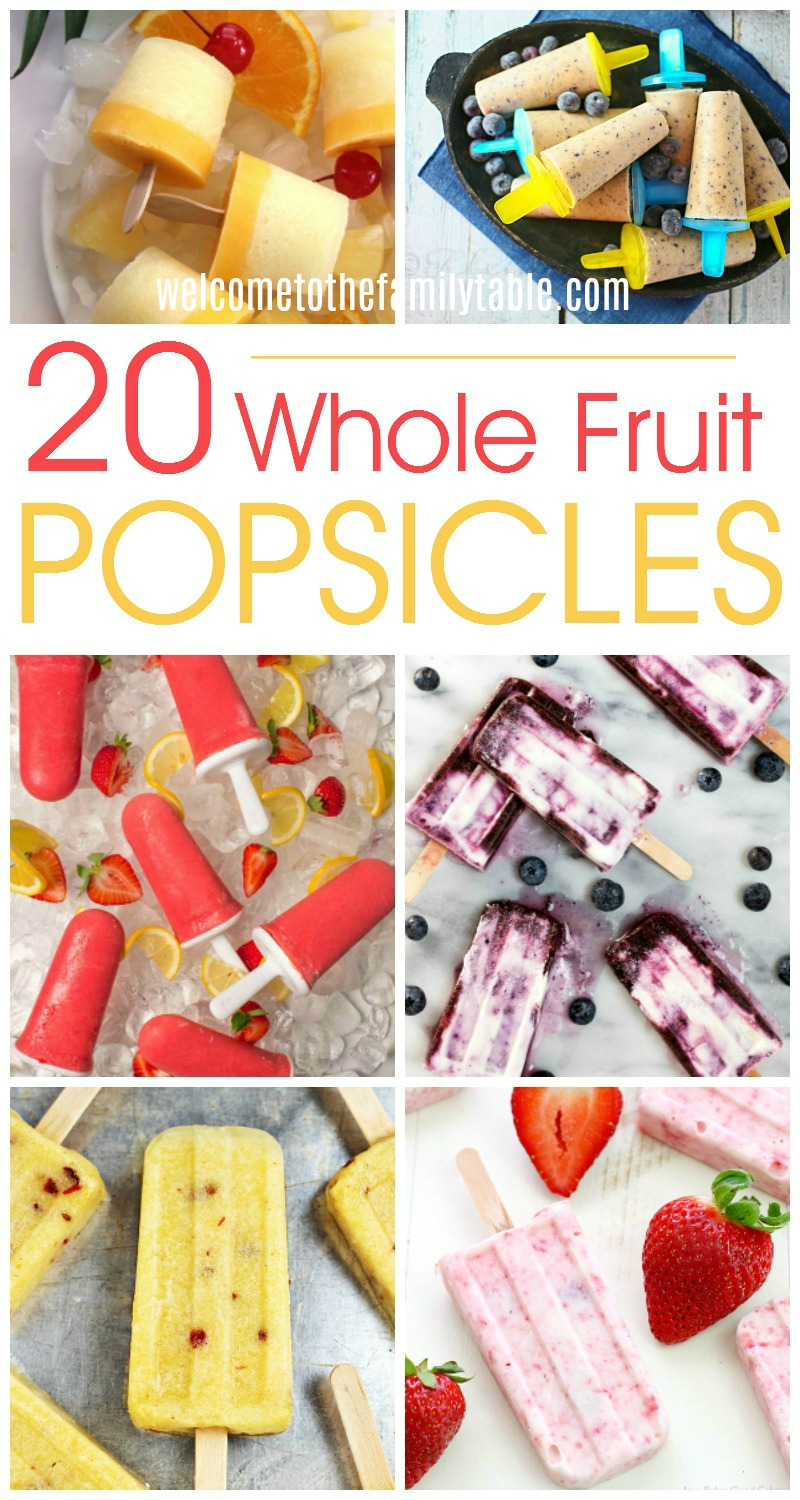 Looking for some delicious whole fruit popsicle recipes? Here are 20 that are sure to delight!