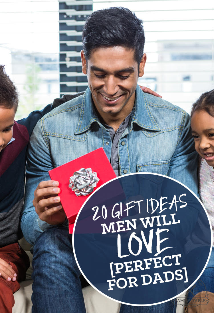 20 Gift Ideas Men will Love (perfect for dads)