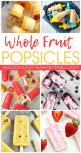WHOLE FRUIT POPSICLES