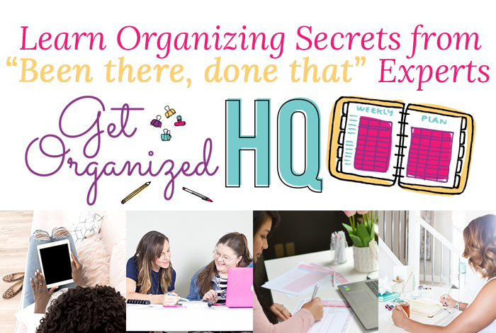 Learn the organizing secrets from experts to help you get organized and find balance between homeschooling and your business!