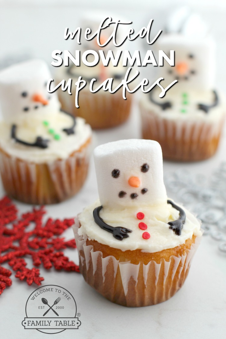 Looking for a fun family activity this winter? Try these fun (and easy) melted snowman cupcakes!