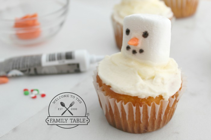 These fun, easy, and delicious melted snowman cupcakes are a family tradition.