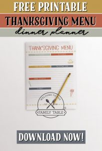 Come grab your FREE printable Thanksgiving dinner planner today!