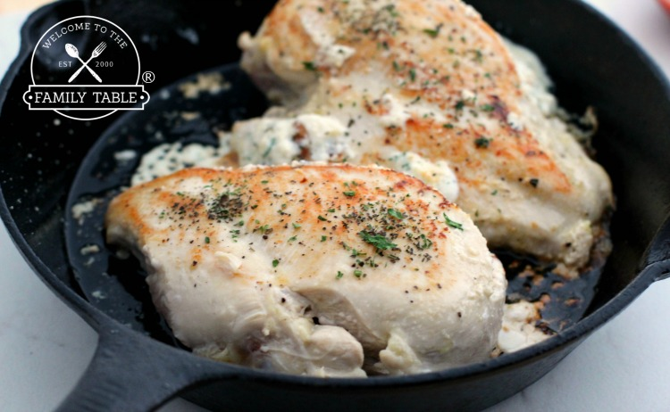 Keto Stuffed Chicken - Pan Seared - Welcome to the Family Table®