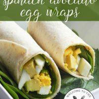 Spinach Avocado Egg Wraps