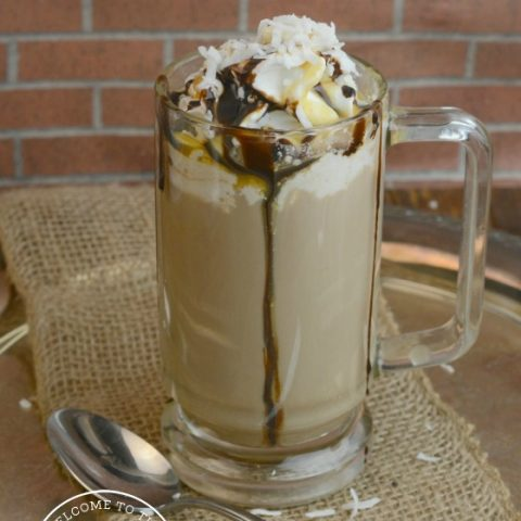 Chocolate Coconut Caramel Latte Recipe