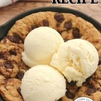 Homemade Chocolate Chip Pizza Cookie Recipe