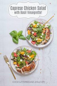 Caprese Chicken Salad with Pesto Vinaigrette