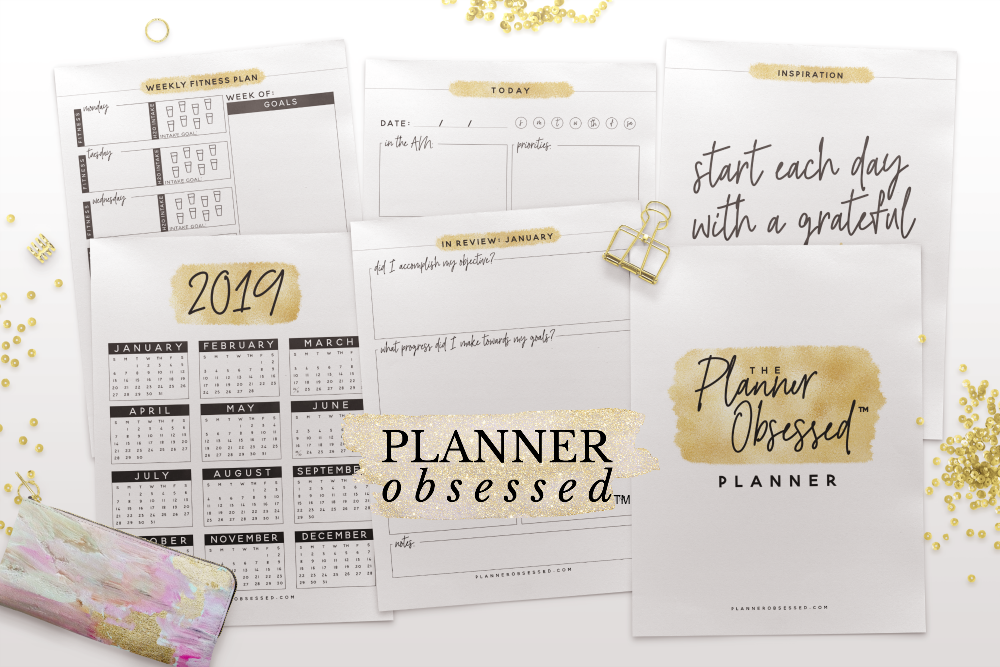 Planner Obsessed™ Gold Planner - all you need to create the life of your dreams!