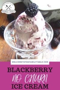 Blackberry No Churn Ice Cream