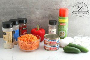 Ingredients for Paleo Sweet Potato Tuna Cakes