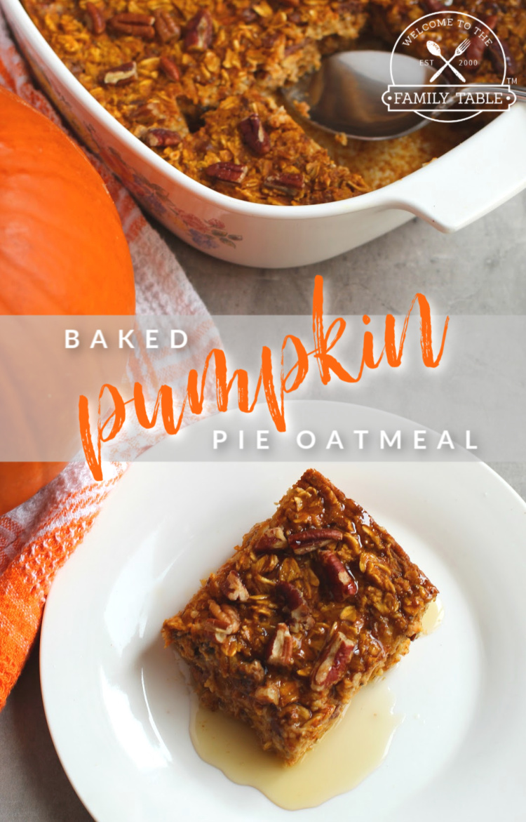 Baked Pumpkin Pie Oatmeal Recipe