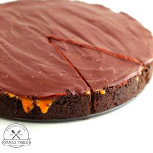 No Bake Salted Caramel Chocolate Pie (GF)