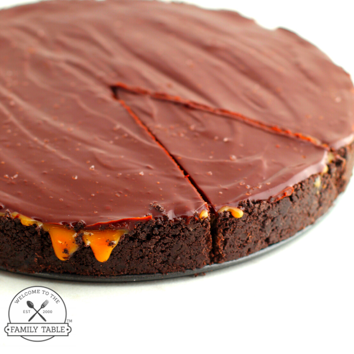 No Bake Salted Caramel Chocolate Pie (GF)