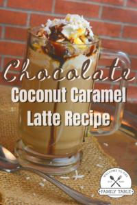 Chocolate Coconut Caramel Latte Recipe