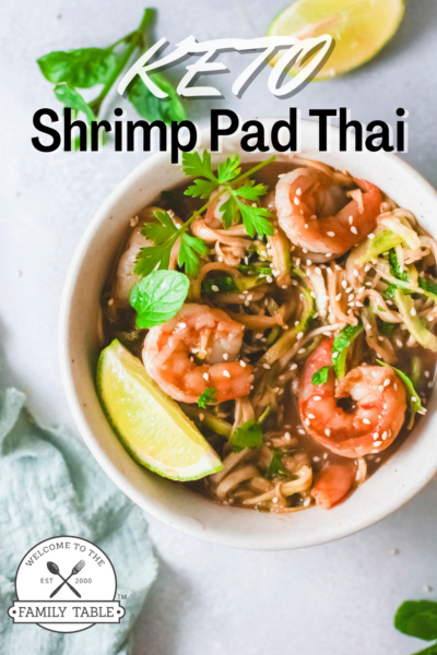 Keto Shrimp Pad Thai