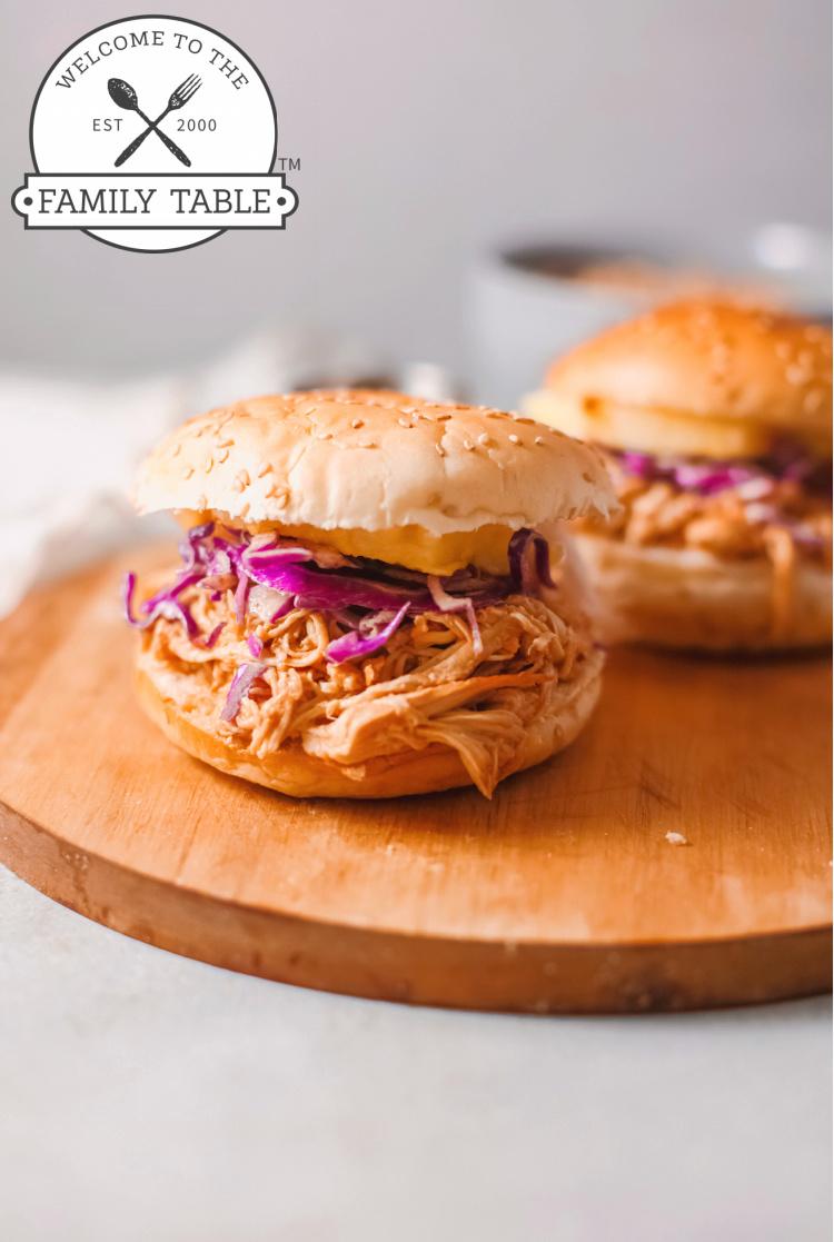 Instant Pot Hawaiian Chicken Sandwiches