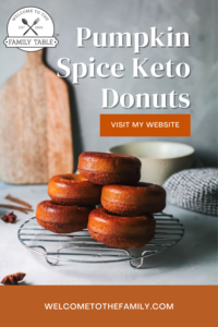 Pumpkin Spice Keto Donuts